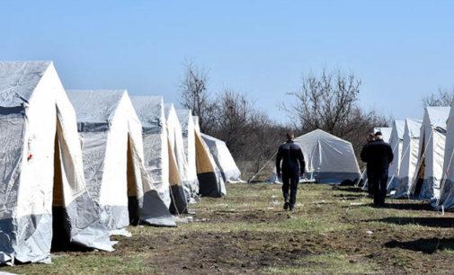 Из-за угрозы коронавируса на окраине Днепропетровской области установили палатки для обсервации