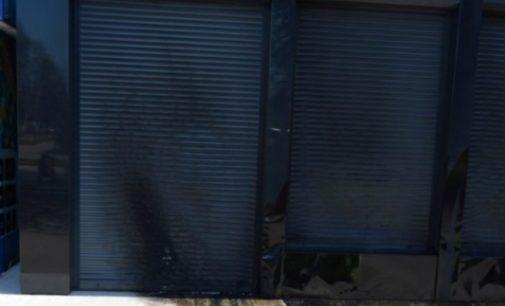 В Борисполе неизвестные сожгли МАФ, оставив обугленные стены