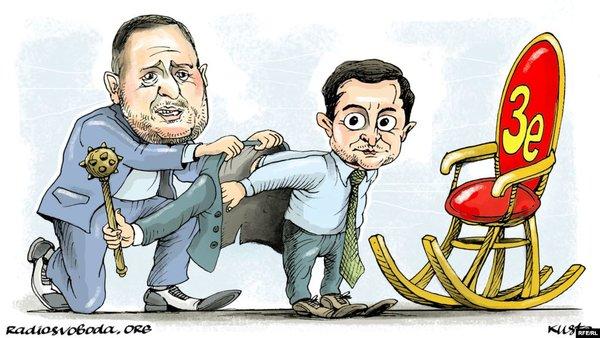 Карикатура с Андреем Ермаком и Владимиром Зеленским